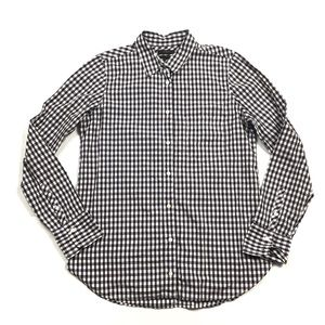 J. Crew Boy Shirt in Mini Gingham